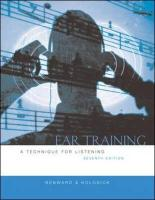 Ear Training W/Transcription CD