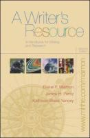 A Writer's Resource (Comb) with Student Access to Catalyst 2.0