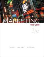 Marketing: The Core [With Core Cards]