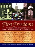 First Freedoms: A Documentary History of First Amendment Rights in America