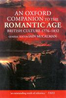 An Oxford Companion to the Romantic Age