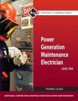 Power Generation Maintenance Electrician, Level 2 Trainee Guide