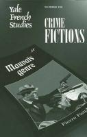 Yale French Studies, Number 108: Crime Fictions