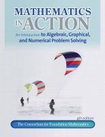 Mathematics in Action: An Introduction to Algebraic, Graphical, and Numerical Problem Solving