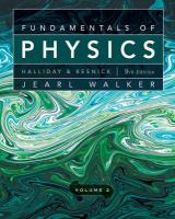 Fundamentals of Physics, Chapters 21-44