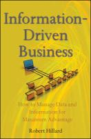 Information-Driven Business: How to Manage Data and Information for Maximum Advantage
