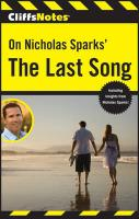 CliffsNotes On Nicholas Sparks' The Last Song (Cliffsnotes Literature Guides)