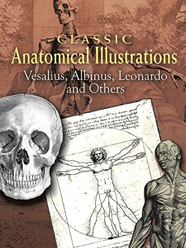 Classic Anatomical Illustrations (Dover Fine Art, History of Art) - Vesalius; Albinus; Leonardo