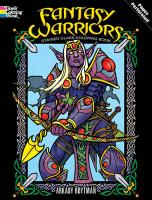 Fantasy Warriors Stained Glass Coloring Book