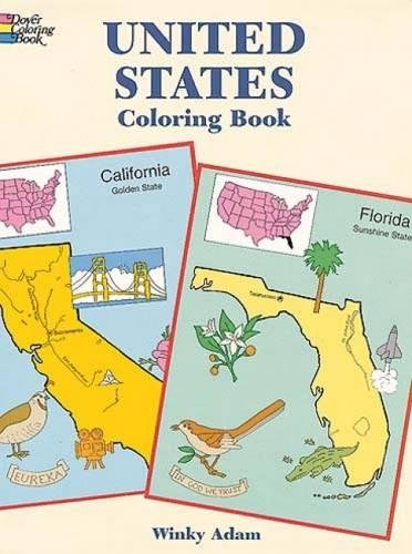 United States Coloring Book (Dover History Coloring Book) - Winky Adam