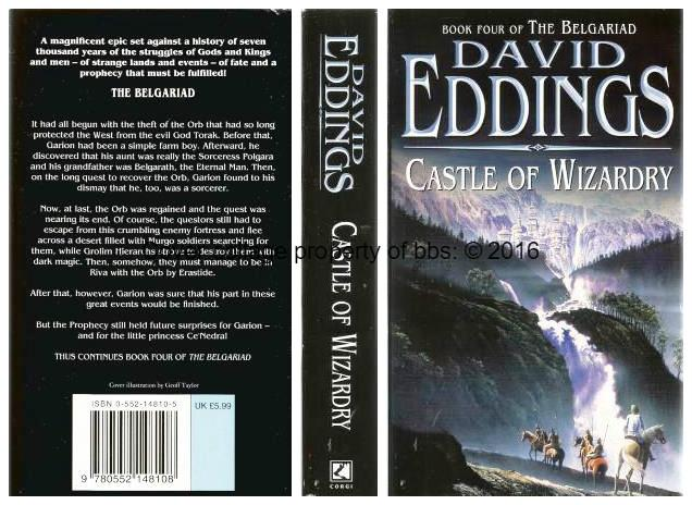 Castle Of Wizardry: 4th in the 'Belgariad' series of books - Eddings, David