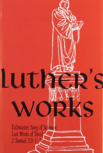 Luther's Works - Martin Luther