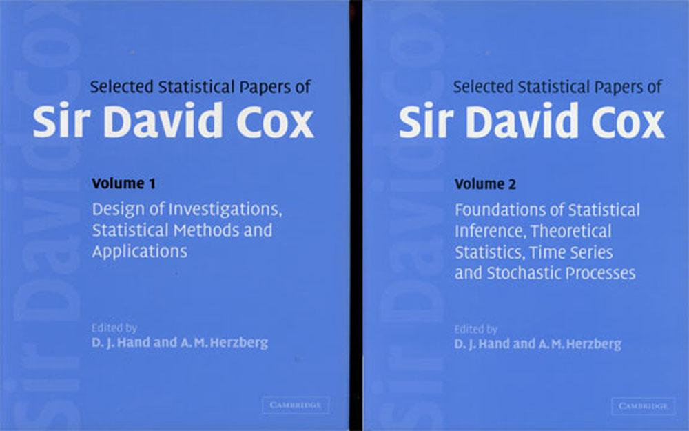 Selected Statistical Papers of Sir David Cox, 2 vols.--Volume 1: Design of Investigations, Statistical Methods and Applications & Volume 2: Foundations of Statistical Inference, Theoretical Statistics, Time Series and Stochastic Processes - Cox, Sir David; D. J. Hand, ed.; A. M. Herzberg, ed