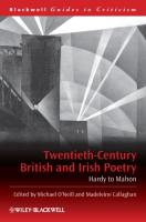 Twentieth-Century British and Irish Poetry: Hardy to Mahon