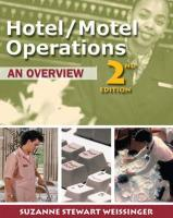 Hotel/ Motel Operations: An Overview