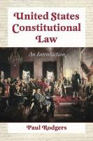 United States Constitutional Law: An Introduction