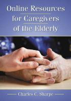 Online Resources for Caregivers of the Elderly