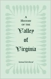 A History of the Valley of Virginia