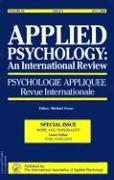 Applied Psychology: An International Review: Psychologie Appliquee Revue Internationale