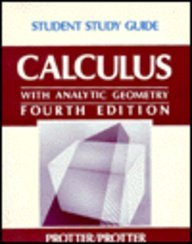 Ssg- Calculus Student Study Guide 4e - Protter