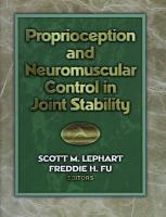 Proprioception and Neuromuscular Control in Joint Stability