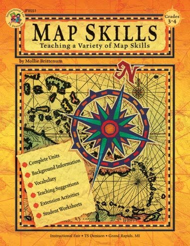 Map Skills: Teaching a Variety of Map Skills (Grades 3 -4) - Mollie Brittenum