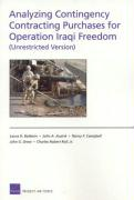 Analyzing Contingency Contracting Purchases for Operation Iraqi Freedom (Unrestricted Version)