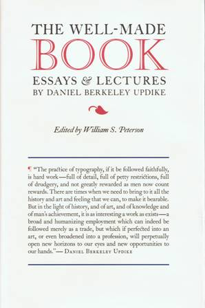 The Well-Made Book: Essays & Lectures