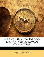 An English and Oordoo Dictionary: In Roman Characters