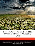Best Places to Live in the United States: Rowlett, Texas