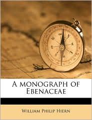 A Monograph of Ebenaceae