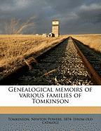 Genealogical Memoirs of Various Families of Tomkinson