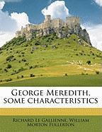 George Meredith, Some Characteristics