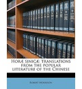 Horae Sinicae: Translations from the Popular Literature of the Chinese