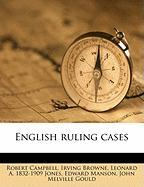 English Ruling Cases
