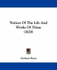 Notices of the Life and Works of Titian (1829)