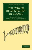 The Power of Movement in Plants (Cambridge Library Collection - Life Sciences)