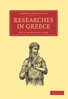 Researches in Greece (Cambridge Library Collection - Linguistics)