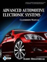 Advanced Automotive Electronic Systems Classroom Manual [With Shop Manual]