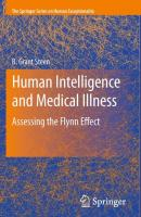 Human Intelligence and Medical Illness: Assessing the Flynn Effect