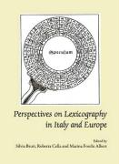 Perspectives on Lexicography in Italy and Europe