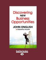 Discovering New Business Opportunities (Large Print 16pt)