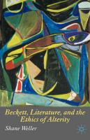 Beckett, Literature and the Ethics of Alterity
