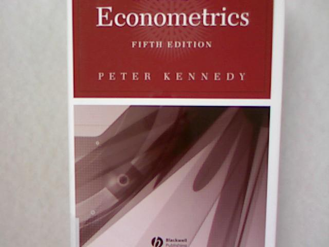 A Guide to Econometrics. - Kennedy, Peter and Sidney Ed. Kennedy