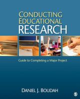 Conducting Educational Research: Guide to Completing a Major Project
