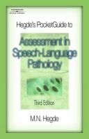 Hegde's Pocket Guide to Assessment in Speech-Language Pathology