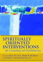 Spiritually Oriented Interventions for Counseling and Psychotherapy