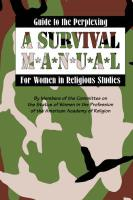 Guide to the Perplexing: A Survival Manual for Women in Religious Studies