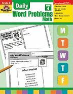 Daily Word Problems, Grade 4 Math
