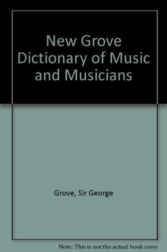The New Grove Dictionary of Music and Musicians: 29 volumes with index - Stanley Sadie; John Tyrrell